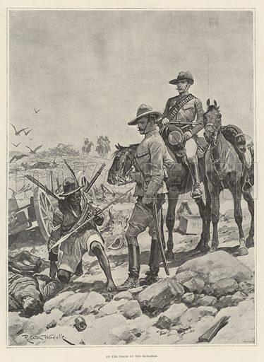 On the Track of the Matabele. Illustration for The Illustrated London News, 28 October 1893.