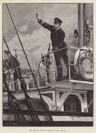 The Duke of York in Command of HMS Thrush. Illustration for The Illustrated London News, 10 July 1893.