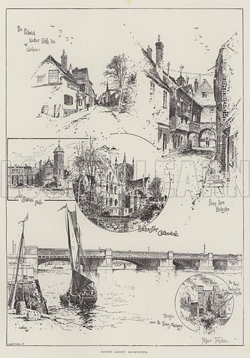 Round about Rochester. Illustration for The Illustrated London News, 30 December 1893.