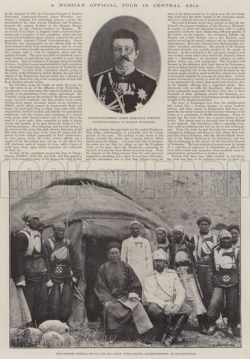 A Russian Official Tour in Central Asia. Illustration for The Illustrated London News, 5 August 1893.