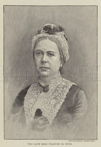 The late Miss Frances M Buss. Illustration for The Illustrated London News, 5 January 1895.