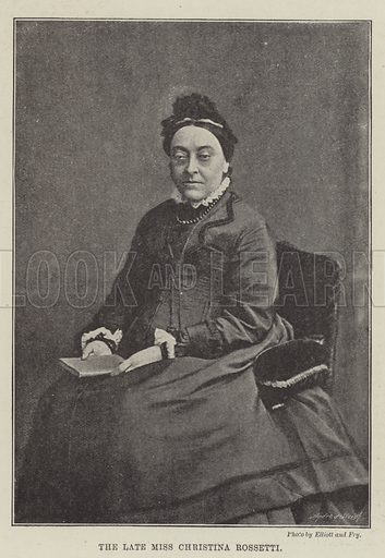 The late Miss Christina Rossetti. Illustration for The Illustrated London News, 5 January 1895.