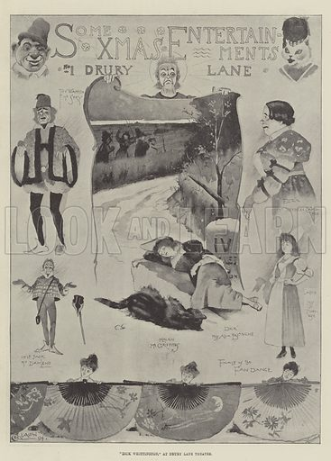 """Dick Whittington,"" at Drury Lane Theatre. Illustration for The Illustrated London News, 5 January 1895."