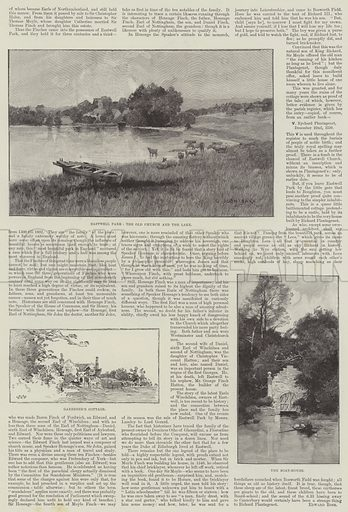 Eastwell Park. Illustration for The Illustrated London News, 12 January 1895.