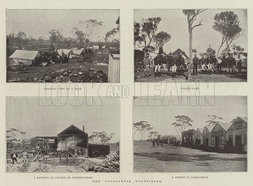 The Coolgardie Goldfields. Illustration for The Illustrated London News, 19 January 1895.