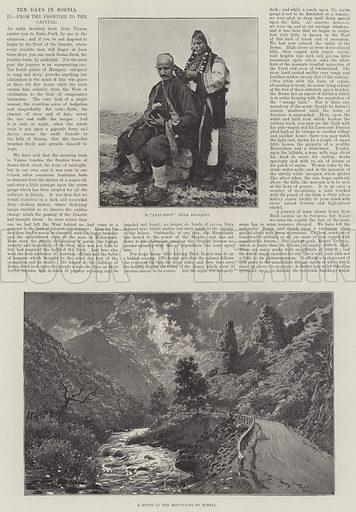 Ten Days in Bosnia. Illustration for The Illustrated London News, 2 February 1895.