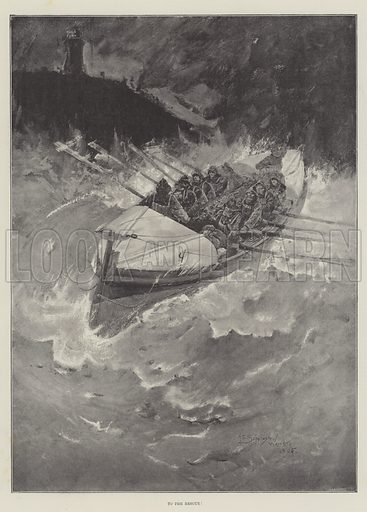 To the Rescue! Illustration for The Illustrated London News, 9 February 1895.