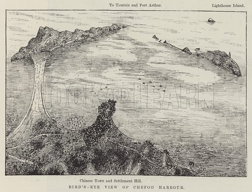 Bird's-Eye View of Chefoo Harbour. Illustration for The Illustrated London News, 9 February 1895.
