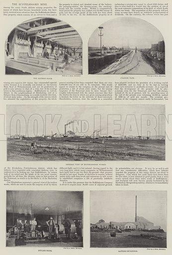 The Buffelsdoorn Mine. Illustration for The Illustrated London News, 9 February 1895.