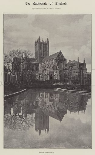 Wells Cathedral. Illustration for The Illustrated London News, 23 February 1895.