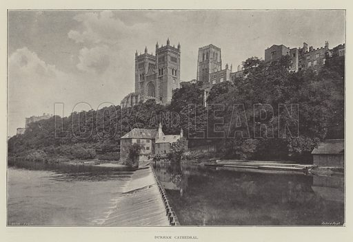 Durham Cathedral. Illustration for The Illustrated London News, 23 February 1895.