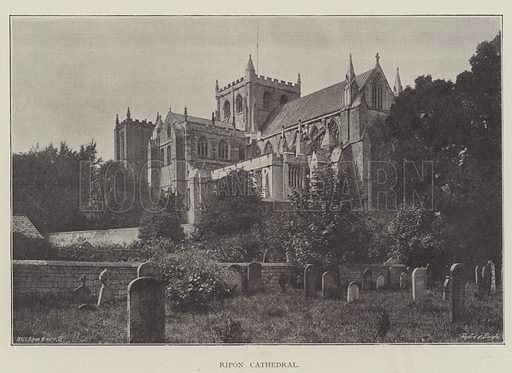 Ripon Cathedral. Illustration for The Illustrated London News, 23 February 1895.