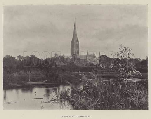 Salisbury Cathedral. Illustration for The Illustrated London News, 23 February 1895.