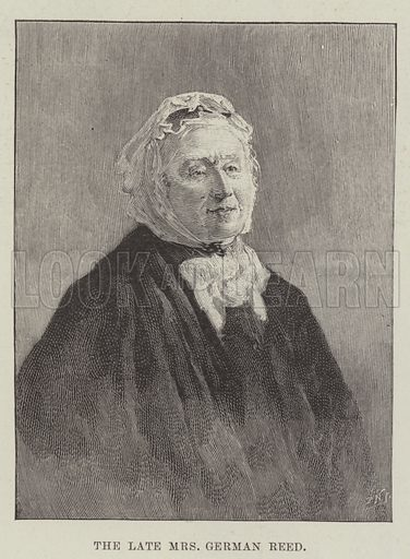 The late Mrs German Reed. Illustration for The Illustrated London News, 23 March 1895.