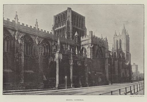 Bristol Cathedral. Illustration for The Illustrated London News, 23 March 1895.