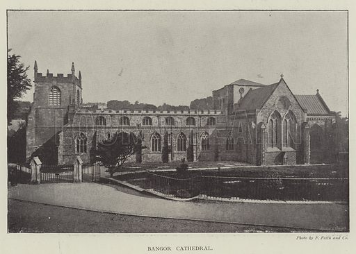 Bangor Cathedral. Illustration for The Illustrated London News, 23 March 1895.