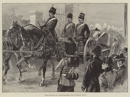 The Funeral of Field-Marshal Sir Patrick Grant. Illustration for The Illustrated London News, 6 April 1895.