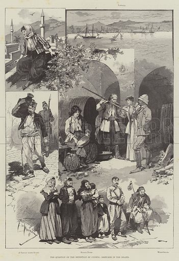 The Question of the Retention of Cyprus, Sketches in the Island. Illustration for The Illustrated London News, 13 April 1895.