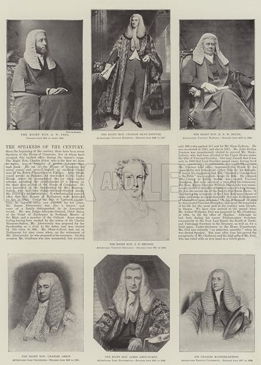 The Speakers of the Century. Illustration for The Illustrated London News, 20 April 1895.
