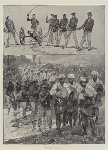 The Army of Madagascar. Illustration for The Illustrated London News, 20 April 1895.