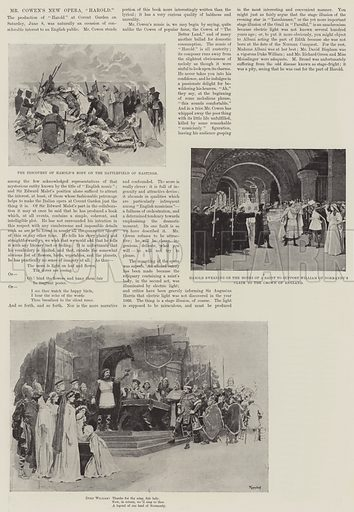"Mr Cowen's New Opera, ""Harold"". Illustration for The Illustrated London News, 15 June 1895."