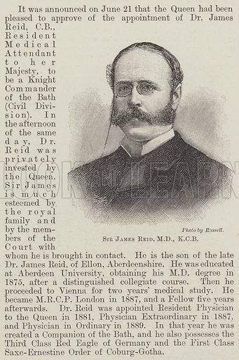 Sir James Reid, MD, KCB Illustration for The Illustrated London News, 29 June 1895.