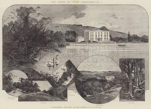 Curraghmore, the Seat of the Marquis of Waterford. Illustration for The Illustrated London News, 13 April 1895.