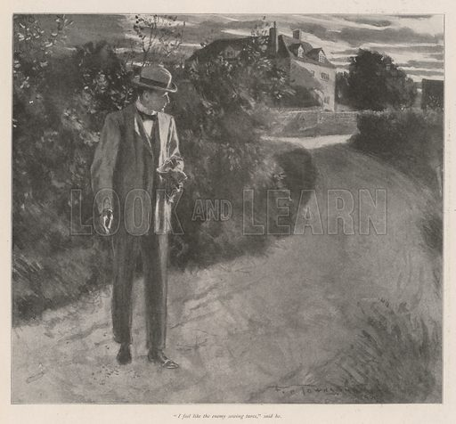 The Hermit of the Yews, by E Nesbit. Illustration for The Illustrated London News, 21 September 1901.