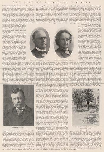 The Life of President McKinley. Illustration for The Illustrated London News, 21 September 1901.