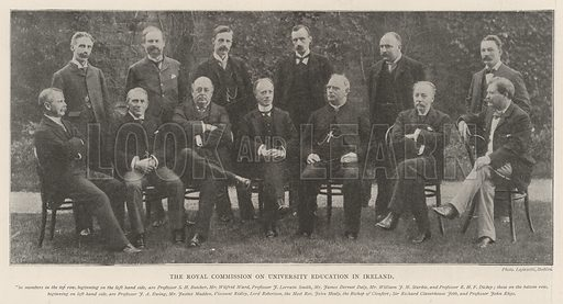 The Royal Commission on University Education in Ireland. Illustration for The Illustrated London News, 5 October 1901.