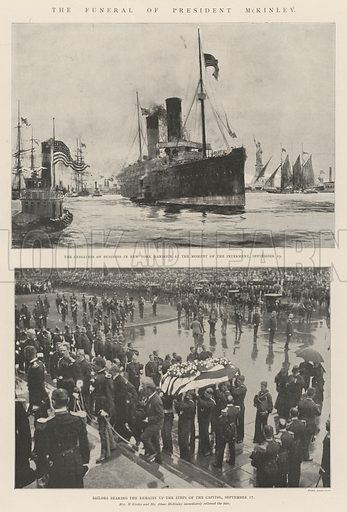 The Funeral of President McKinley. Illustration for The Illustrated London News, 5 October 1901.
