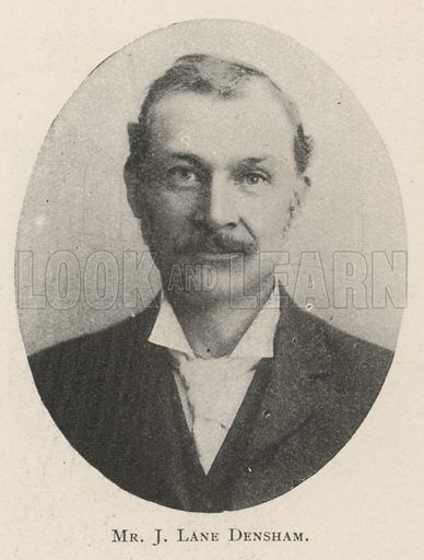Mr J Lane Densham. Illustration for The Illustrated London News, 5 October 1901.