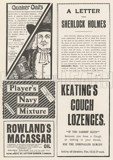 Page of Advertisements. Illustration for The Illustrated London News, 12 October 1901.