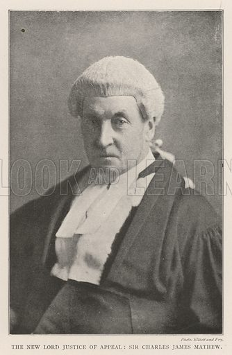 The New Lord Justice of Appeal, Sir Charles James Mathew. Illustration for The Illustrated London News, 26 October 1901.