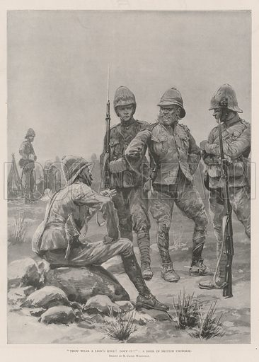 """Thou wear a Lion's Hide! doff it!"" A Boer in British Uniform. Illustration for The Illustrated London News, 9 November 1901."