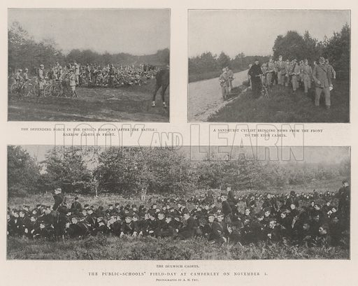 The Public-Schools' Field-Day at Camberley on 1 November. Illustration for The Illustrated London News, 9 November 1901.