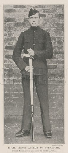 HRH Prince Arthur of Connaught, whose Regiment is ordered to South Africa. Illustration for The Illustrated London News, 9 November 1901.