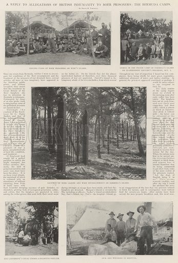 A Reply to Allegations of British Inhumanity to Boer Prisoners, the Bermuda Camps. Illustration for The Illustrated London News, 23 November 1901.