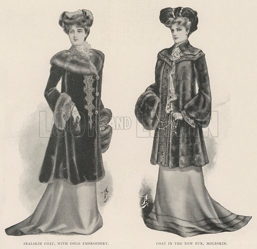 Ladies' Pages. Illustration for The Illustrated London News, 7 December 1901.