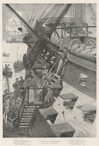 Christmas on a Three-Decker. Illustration for The Illustrated London News, 28 December 1901.