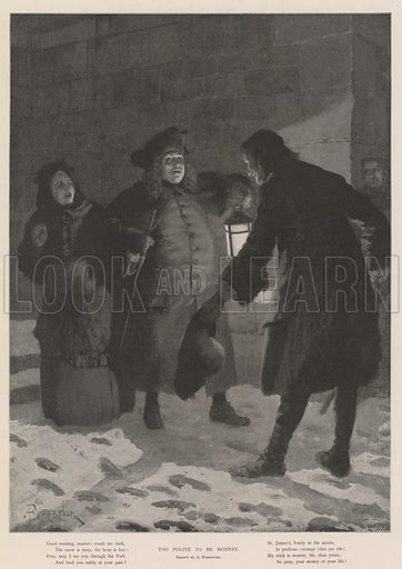 Too Polite to be Honest. Illustration for The Illustrated London News, Christmas Number 1901.