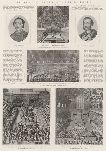 Trials of Peers by their Peers. Illustration for The Illustrated London News, 13 July 1901.
