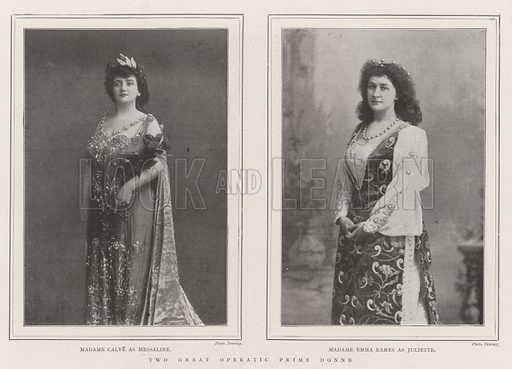 Two Great Operatic Prime Donne. Illustration for The Illustrated London News, 13 July 1901.