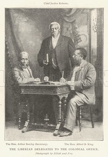 The Liberian Delegates to the Colonial Office. Illustration for The Illustrated London News, 17 August 1901.