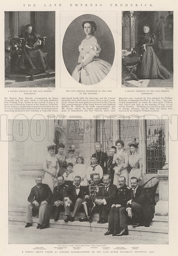 The late Empress Frederick. Illustration for The Illustrated London News, 17 August 1901.