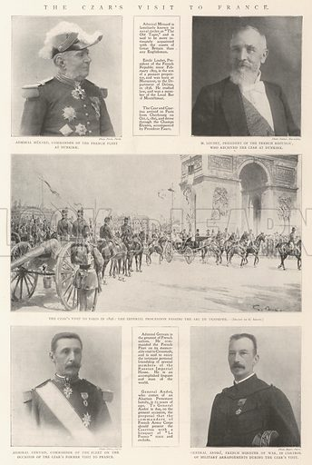The Czar's Visit to France. Illustration for The Illustrated London News, 21 September 1901.