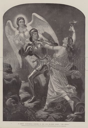 "A Famous Allegorical Painting by the late Sir Noel Paton, ""The Choice"". Illustration for The Illustrated London News, 4 January 1902."