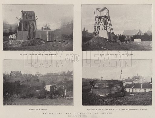 Prospecting for Petroleum in Sussex. Illustration for The Illustrated London News, 22 February 1902.