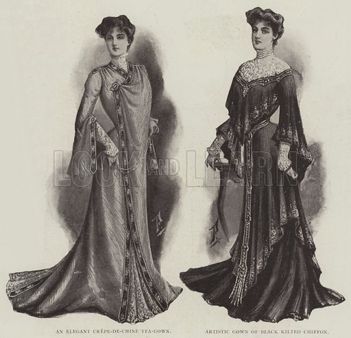 Ladies' Fashions. Illustration for The Illustrated London News, 15 March 1902.
