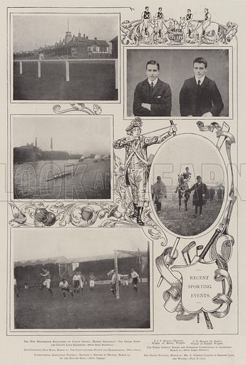 Recent Sporting Events. Illustration for The Illustrated London News, 29 March 1902.